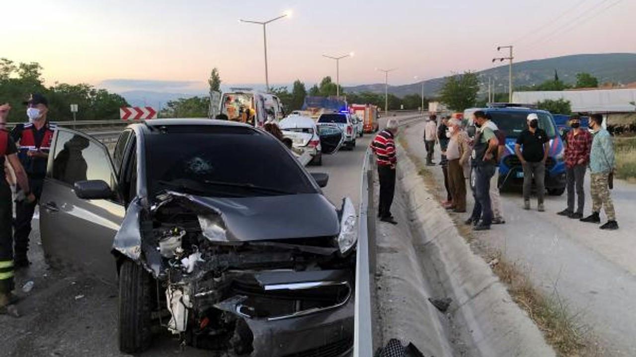 Burdur'da bir garip kaza