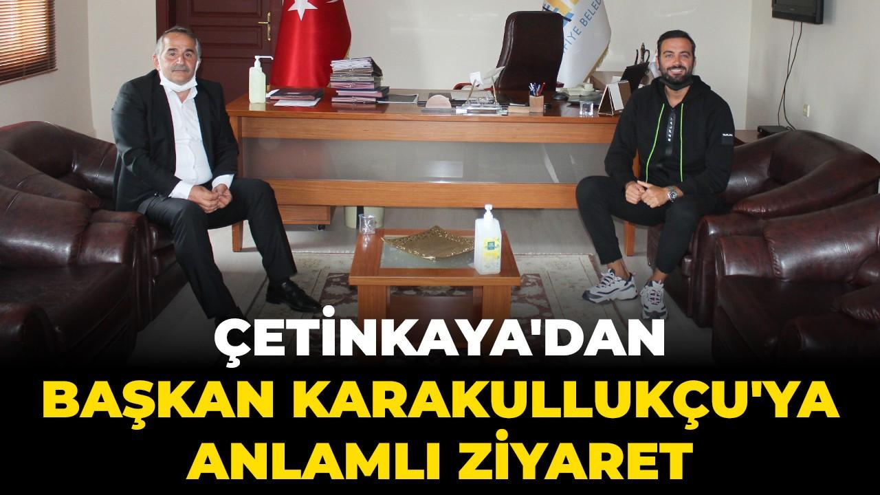 Usta futbolcu Çetinkaya'dan Başkan Karakullukçu'ya ziyaret