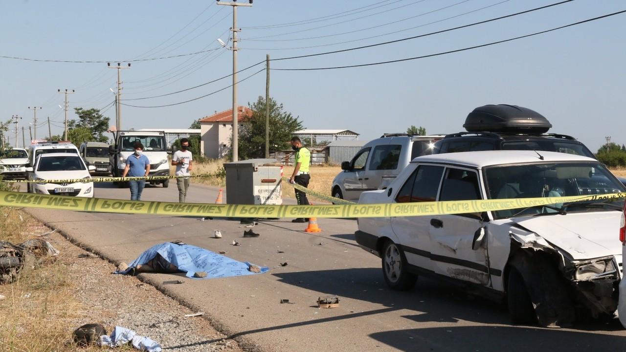 Antalya'da feci kaza:1 ölü