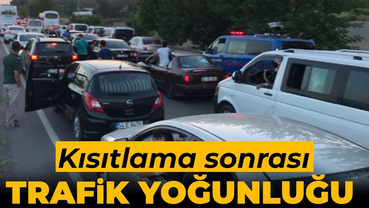 Kısıtlama sonrası Sakarya'da trafik yoğunluğu