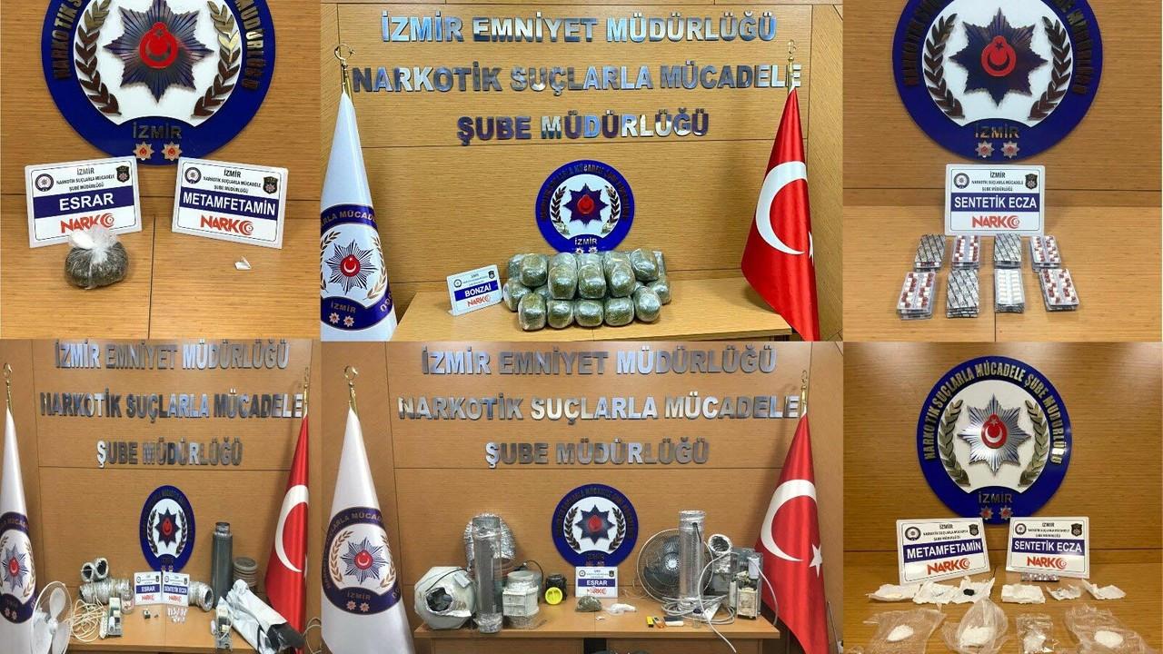 İzmir'de zehir tacirlerine operasyon