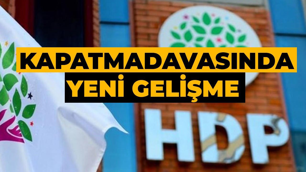 HDP'ye yeniden kapatma davasında yeni gelişme