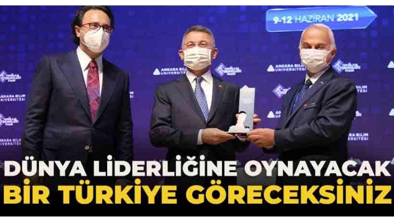 """Cumhurbaşkanı Yardımcısı Oktay: """"Uçan araçlara geldiğimizde artık dünya liderliğine oynayacak bir Türkiye göreceksiniz"""""""