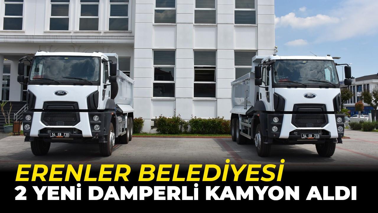 Hayırlı Olsun! Erenler Belediyesi 2 yeni damberli kamyon aldı
