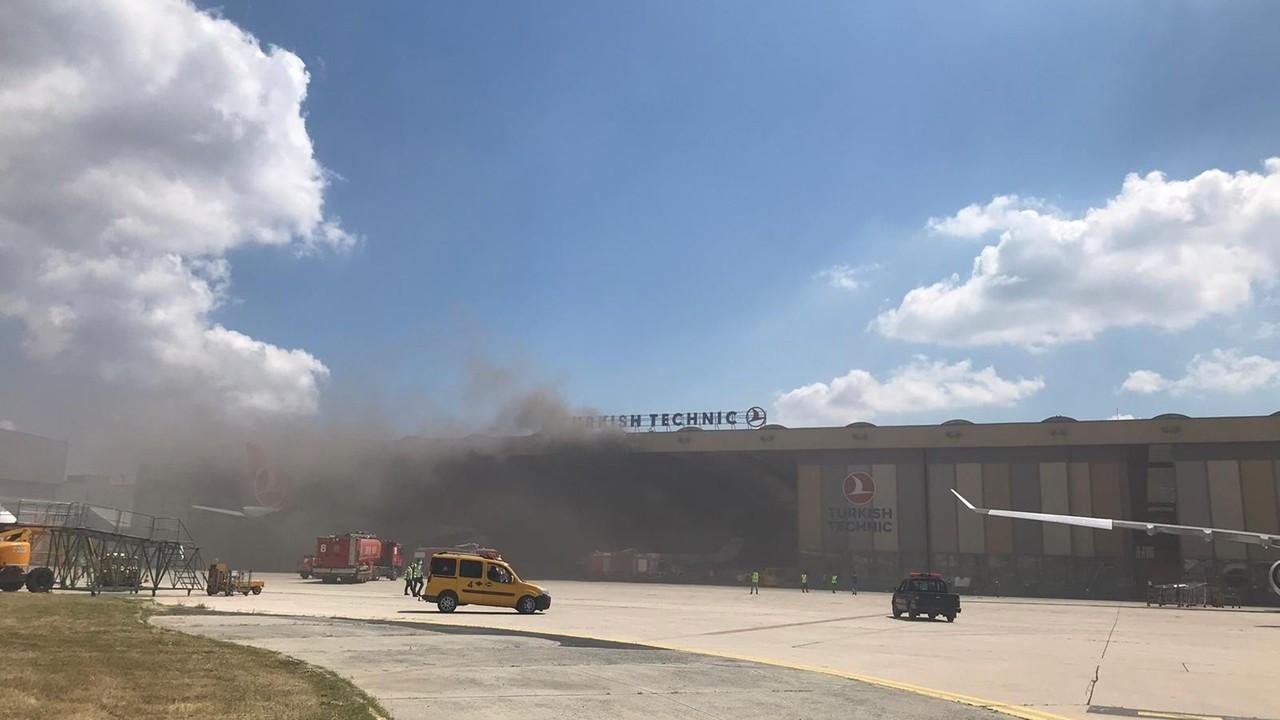THY, uçak bakım hangarında yangın çıktı