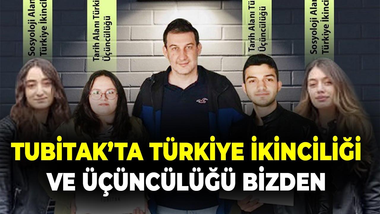 TÜBİTAK'ta Türkiye ikinci ve üçüncülüğü bizde