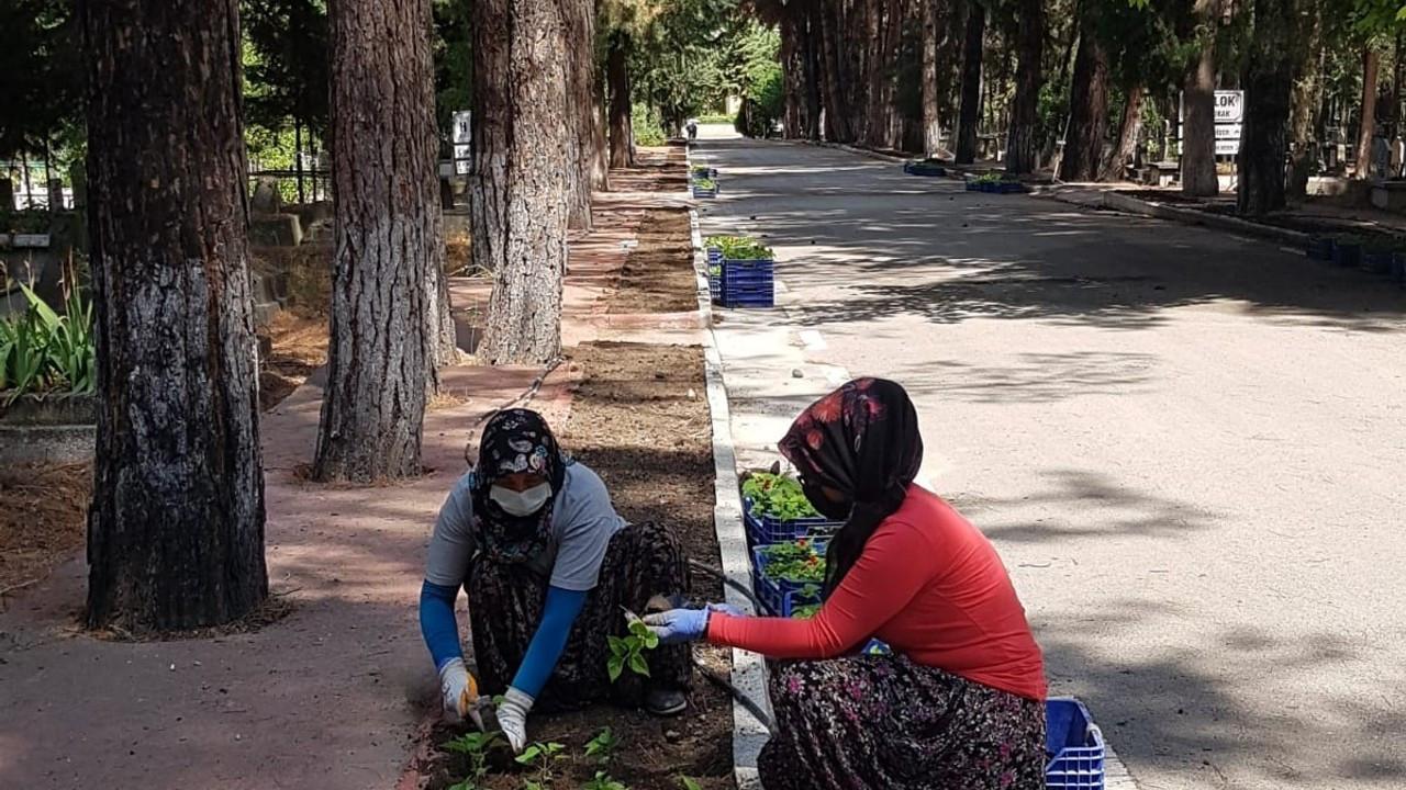 Burdur'da mezarlıklar çiçek açacak