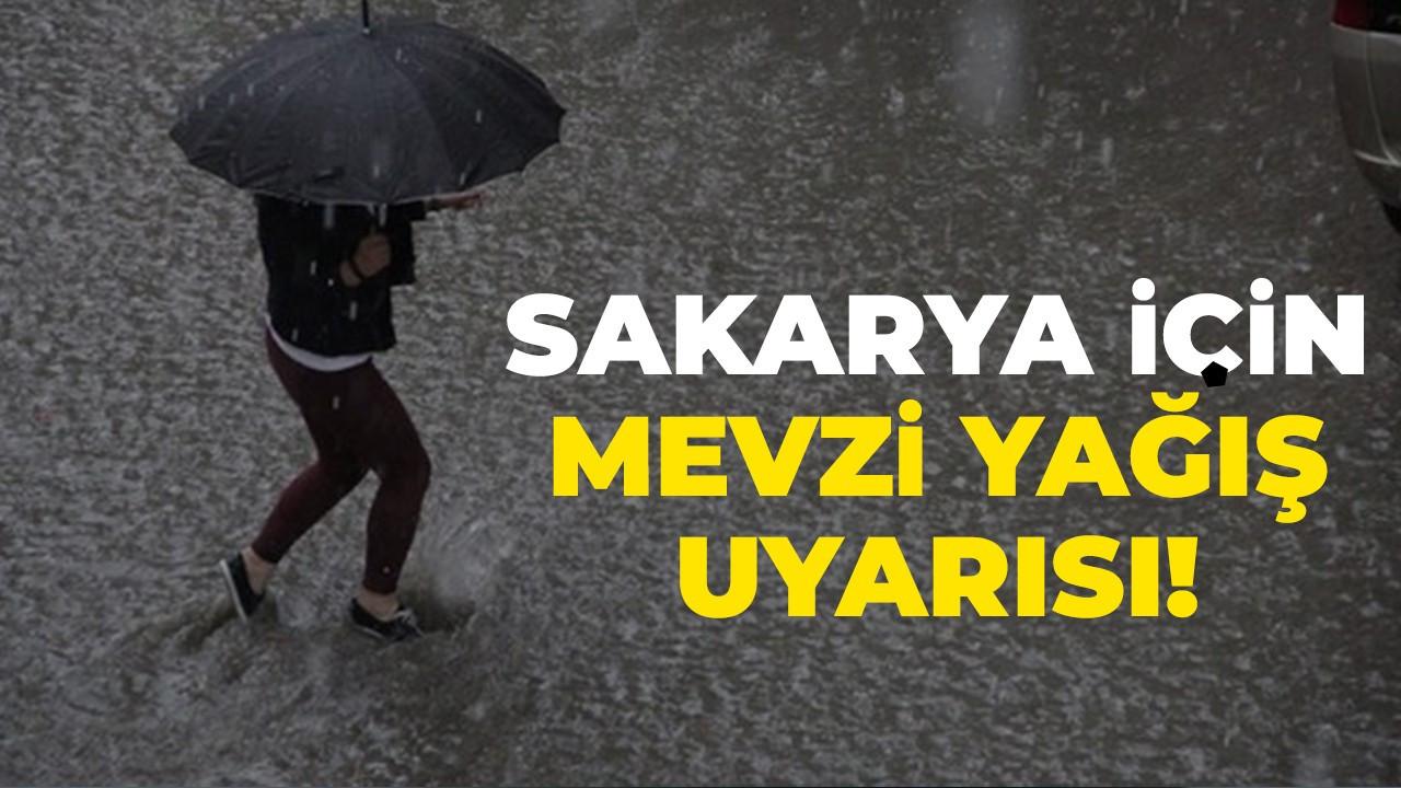 Sakarya için mevzi yağış uyarısı