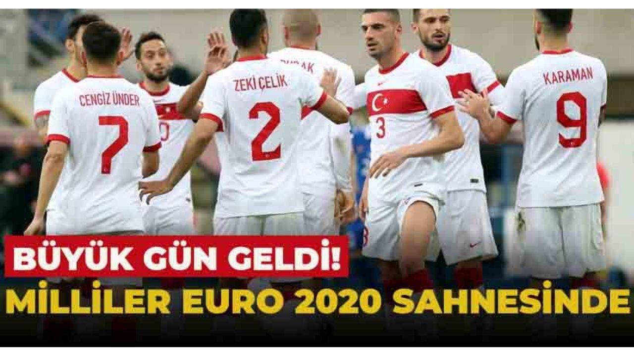 Büyük gün geldi. Millilerimiz EURO 2020 sahnesine çıkıyor. Türkiye-İtalya maçı ne zaman? Hangi kanalda?
