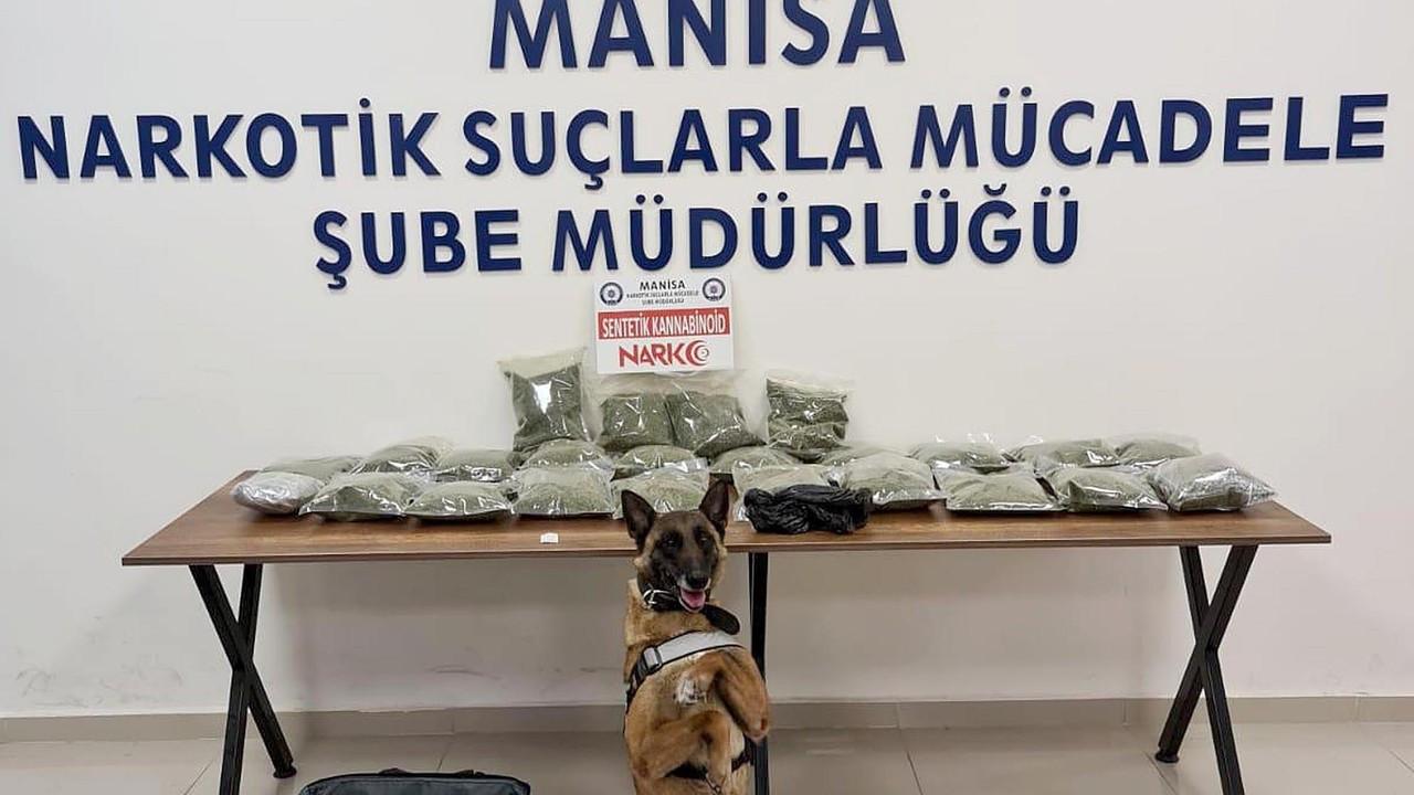 Aferin sana! Narkotik köpeği Kiraz 12 kilo bonzai buldu