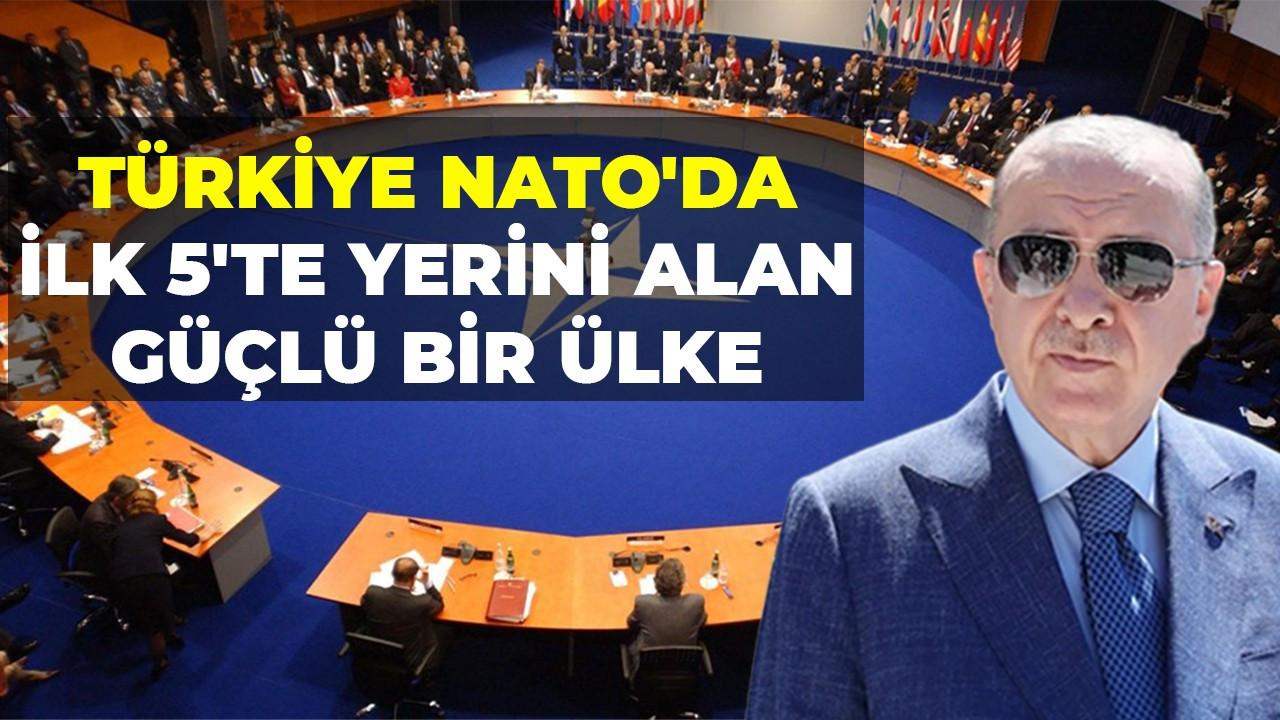 Türkiye NATO'da ilk 5'te yerini alan güçlü bir ülke