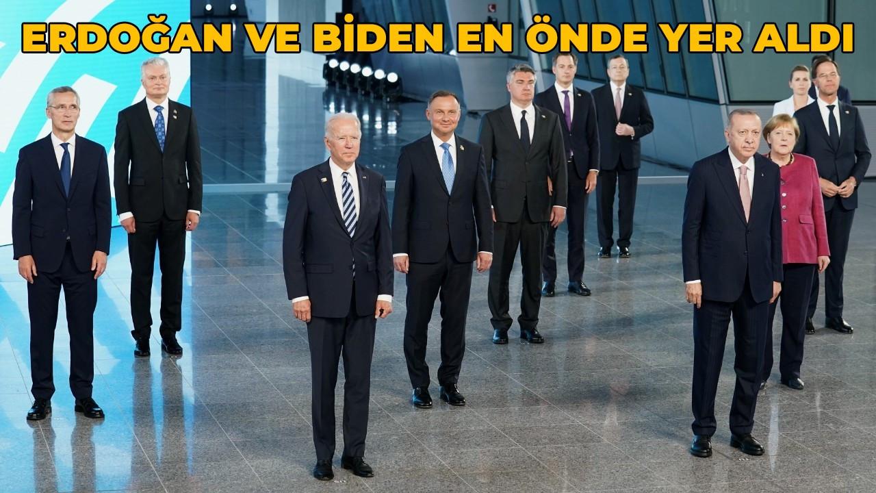 NATO Liderler Zirvesi'nde  Cumhurbaşkanı Erdoğan ve Biden yan yana