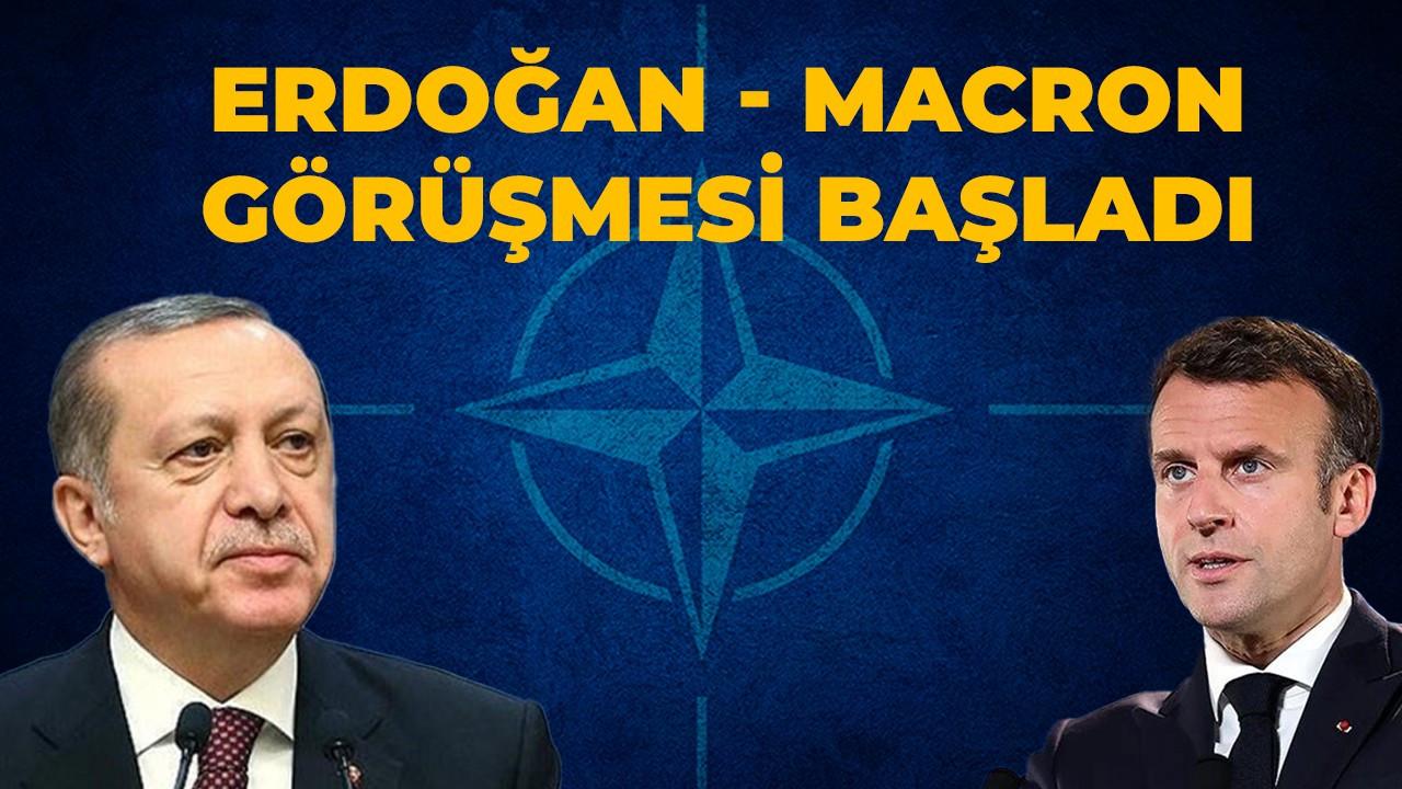 NATO'da kritik Erdoğan-Macron zirvesi!