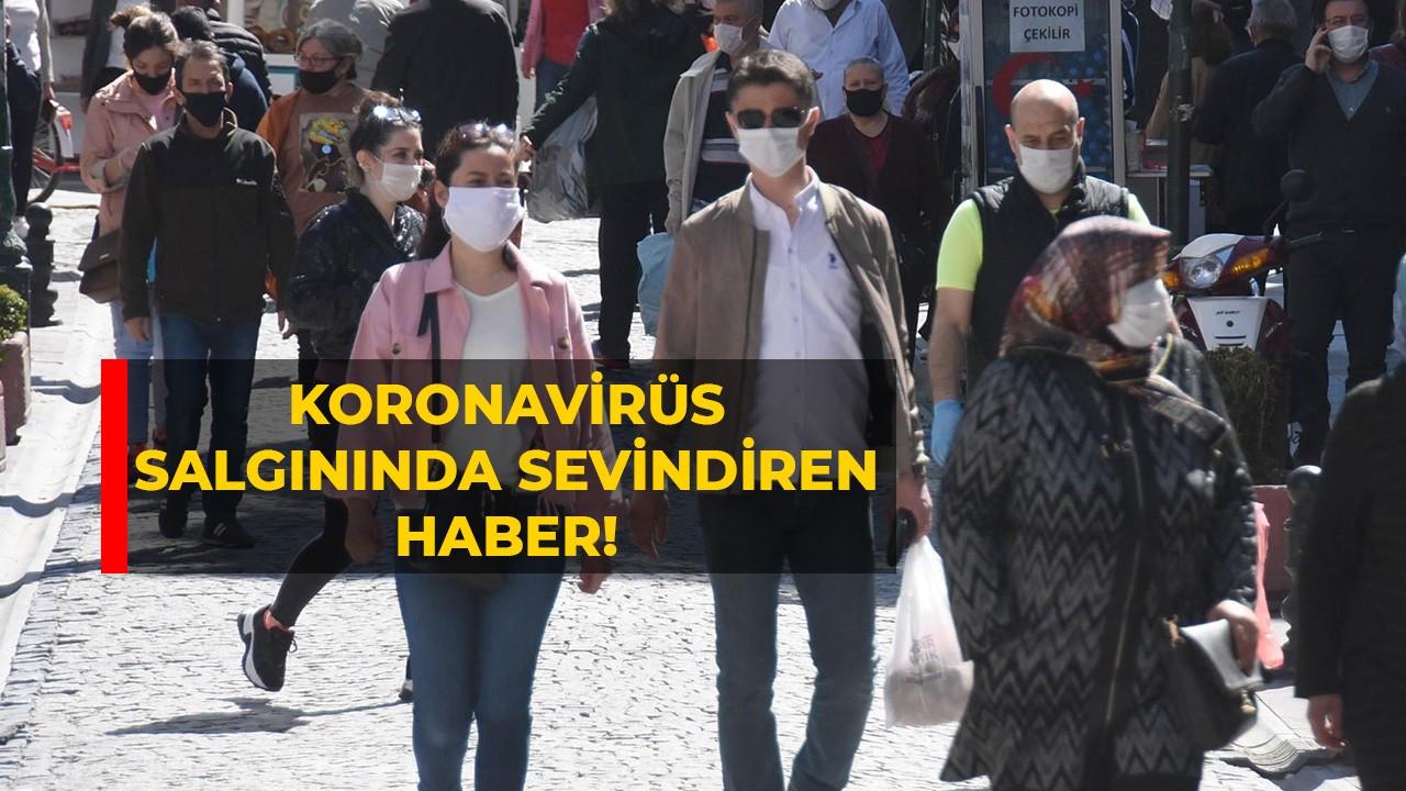 Koronavirüs salgınında sevindiren haber!