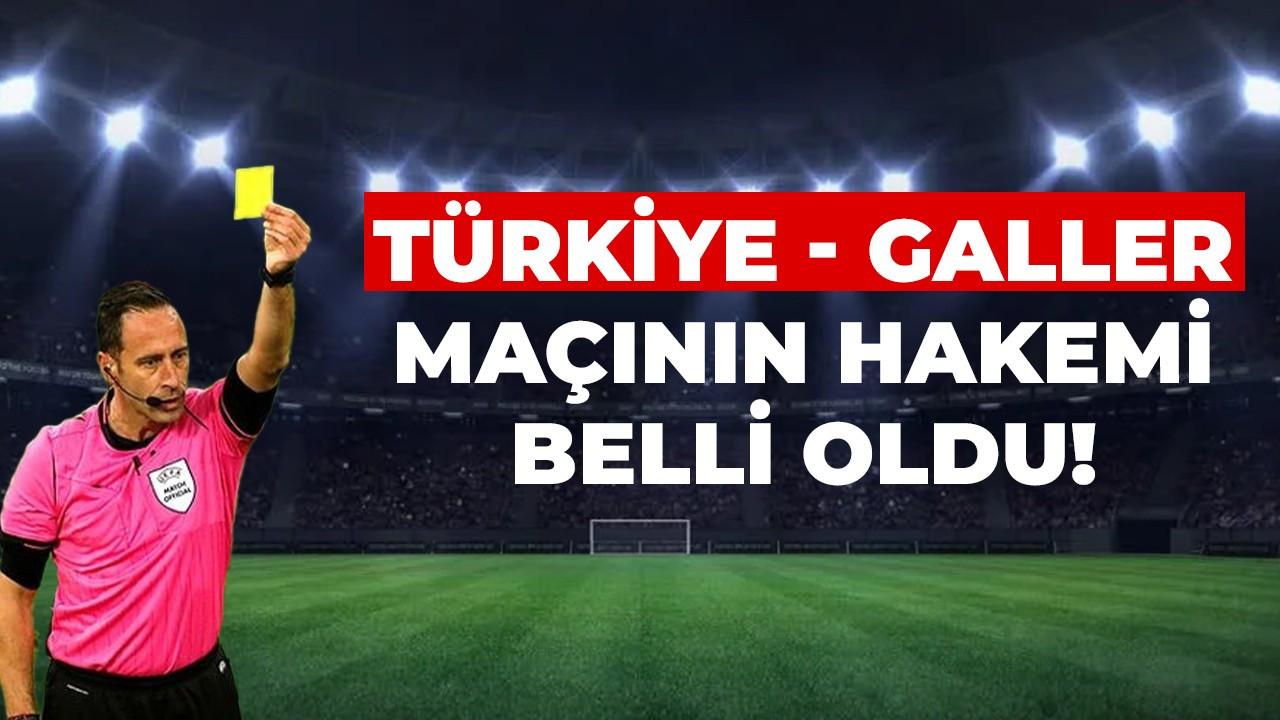 Türkiye - Galler maçının hakemi belli oldu!