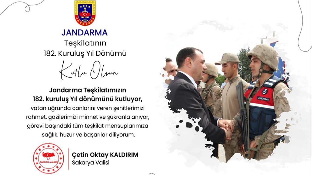 Sakarya Valisi, Jandarma Teşkilatının Kuruluş Yıl Dönümünü Kutladı