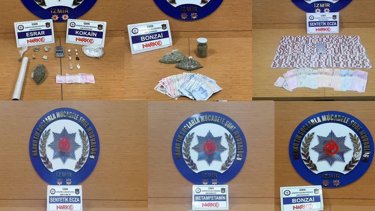 İzmir'de bir haftadaki uyuşturucu operasyonlarında 16 tutuklama