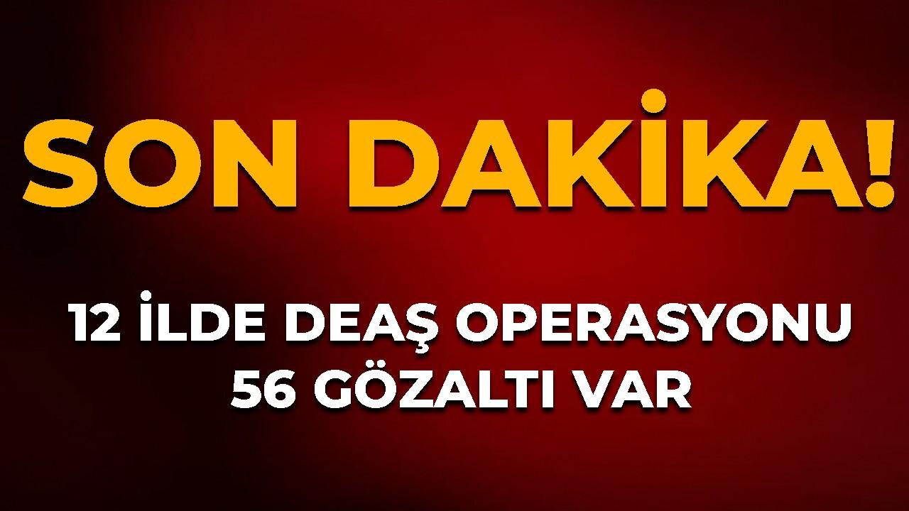 12 ilde DEAŞ operasyonu: 56 gözaltı