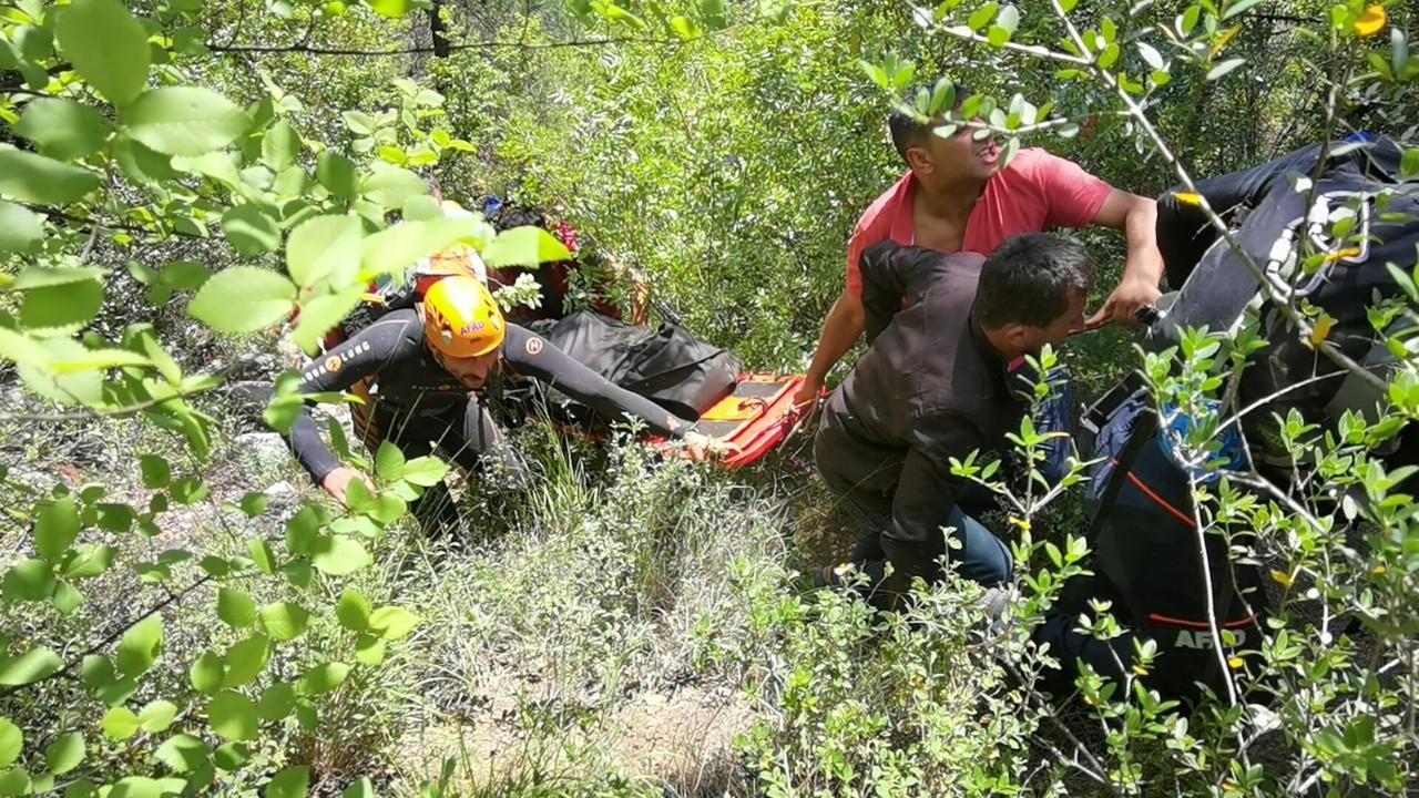 Kanyonda kaybolan gencin cesedine 3 gün sonra ulaşıldı