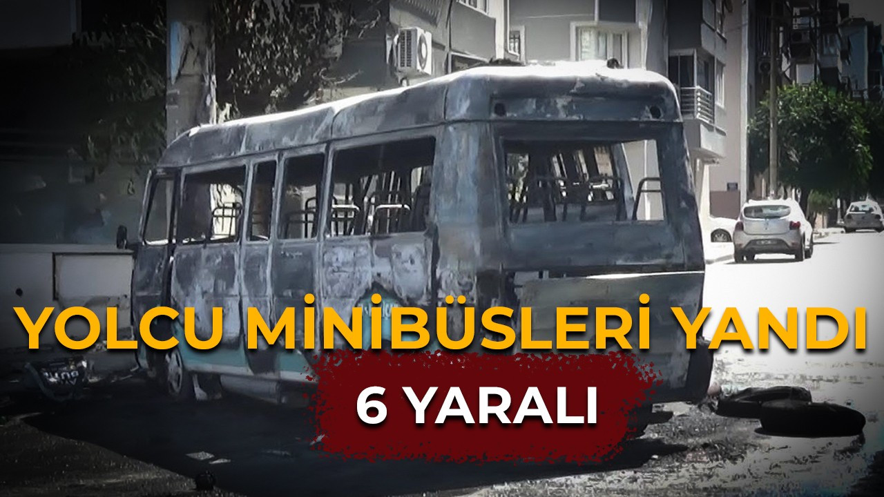 Çarpışan şehir içi yolcu minibüsleri yandı: 6 yaralı