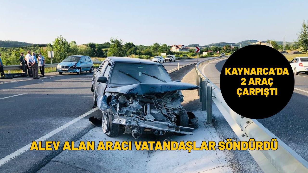 Kaynarca'da kaza 2 yaralı