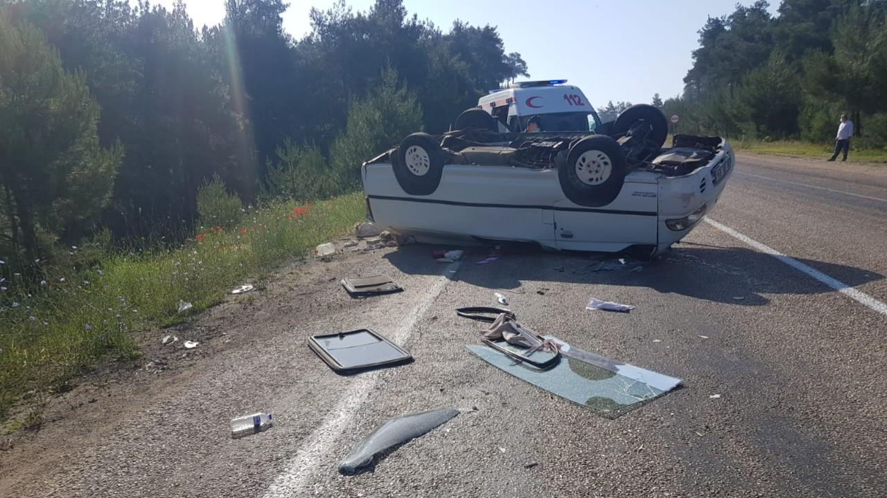 Bursa'da minibüs devrildi: 1 ölü, 3 yaralı