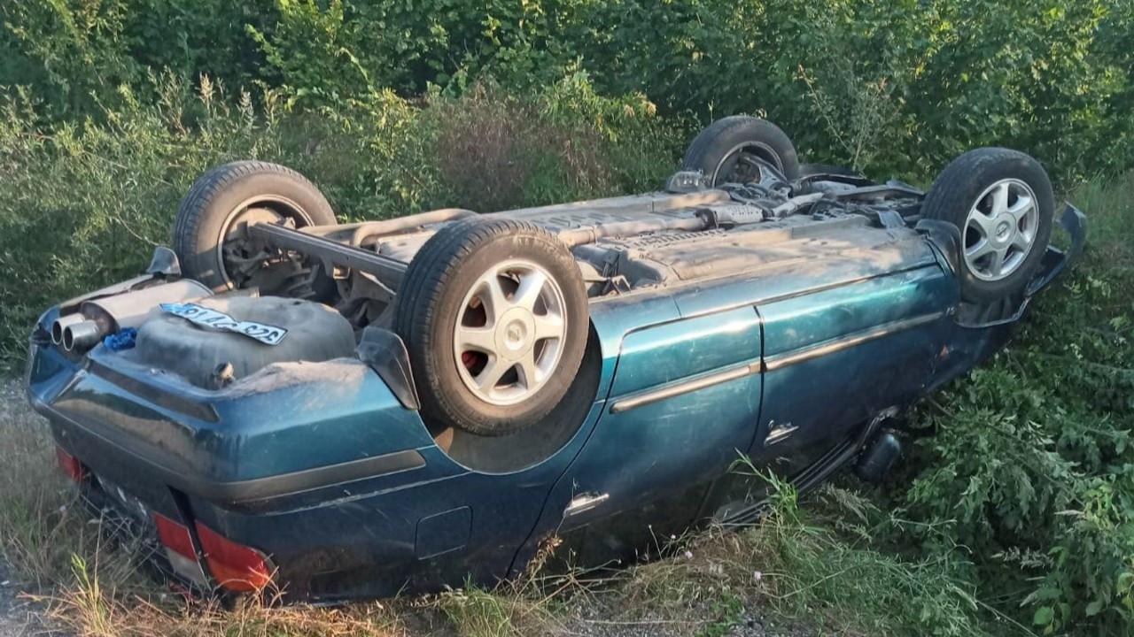 Zonguldak'ta Otomobil takla attı: 2 yaralı