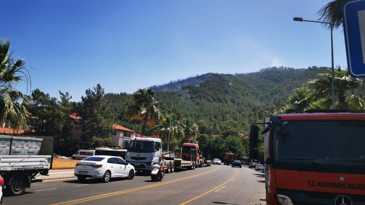 Marmaris'te orman yangını; 1 şehit, 1 yaralı