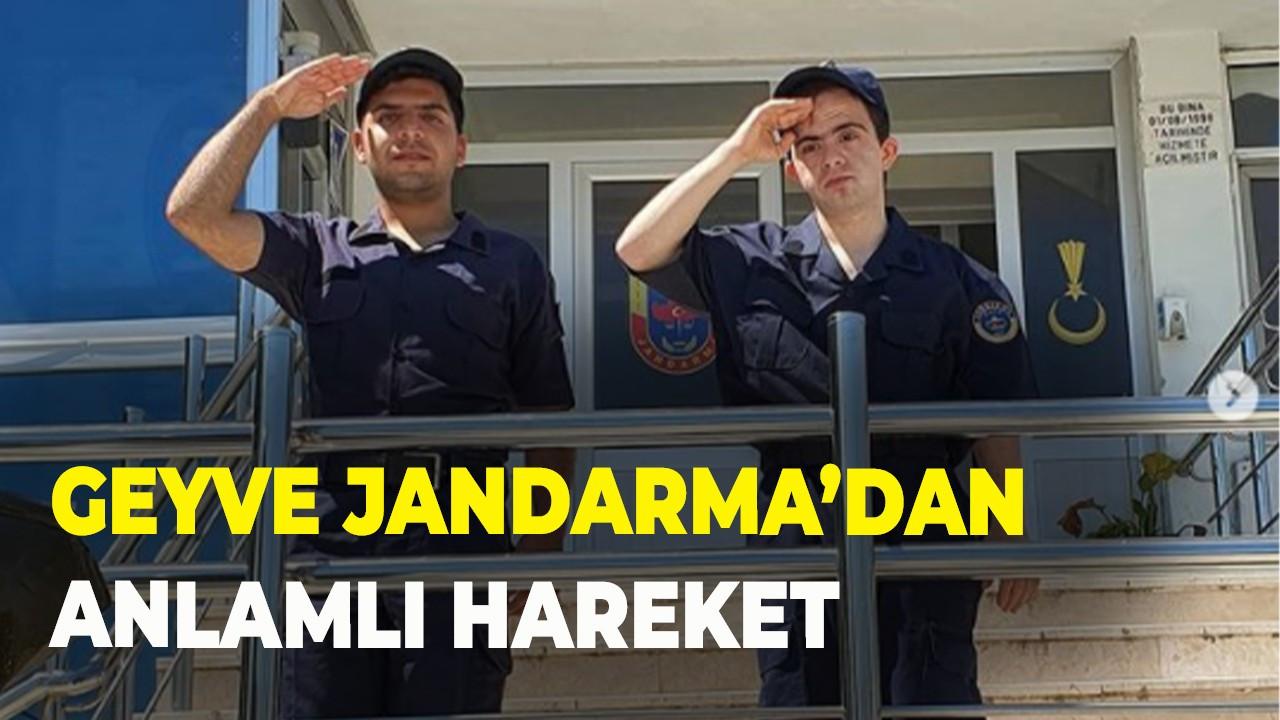 Geyve Jandarma'dan anlamlı hareket