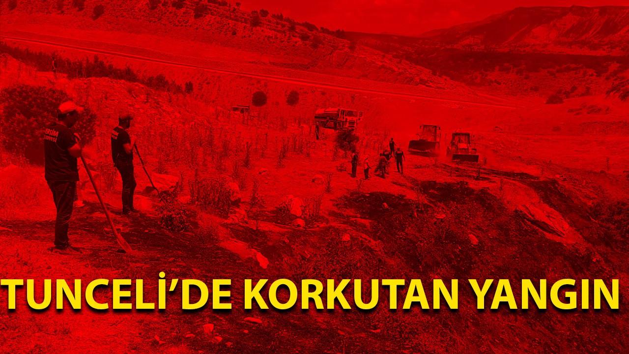 Tunceli'de korkutan yangın
