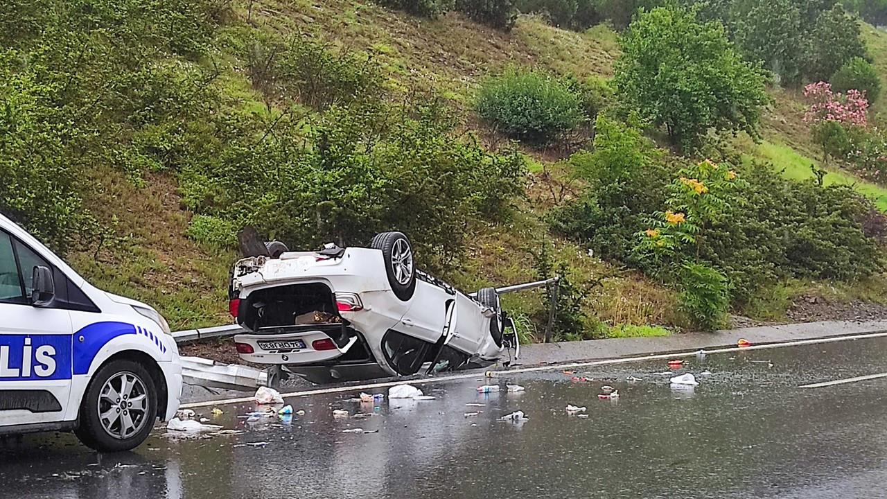 Kağıthane'de yağmur kazası