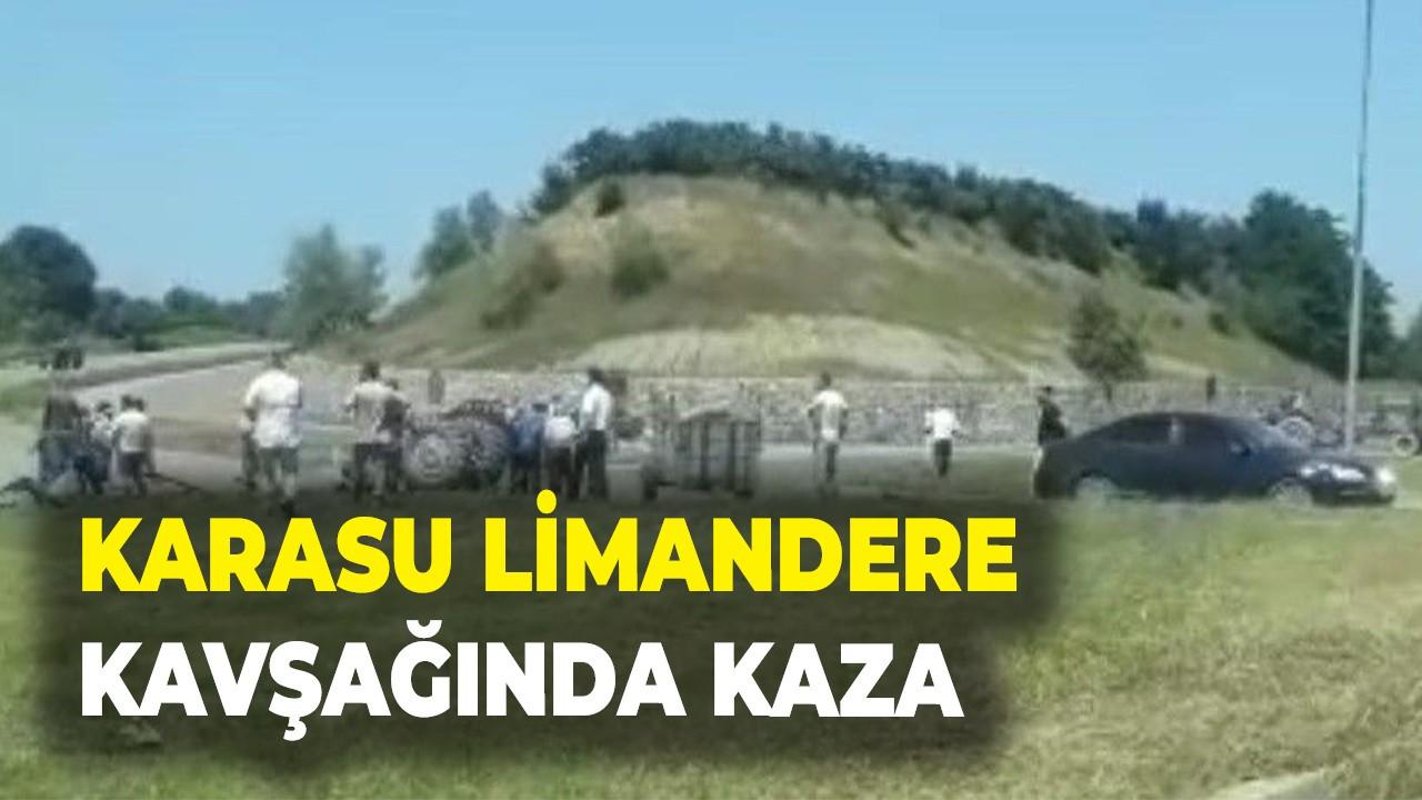 Karasu Limandere kavşağında kaza