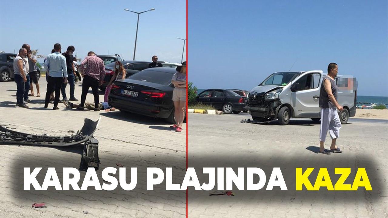 Karasu plajında kaza