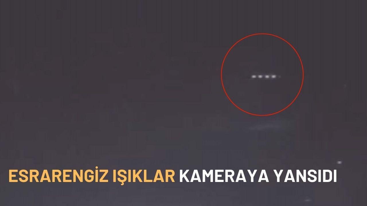 Gökyüzünde görünen esrarengiz ışıklar kameraya yansıdı