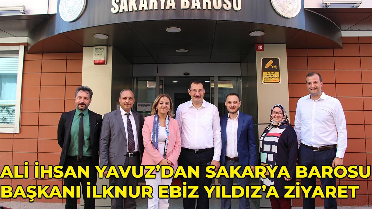 Ali İhsan Yavuz'dan Baro Başkanı İlknur Ebiz Yıldız'a ziyaret!