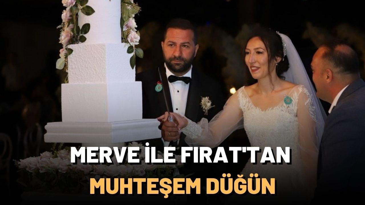 """""""Merve ile Fırat""""tan muhteşem düğün"""