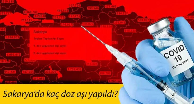 Sakarya'da kaç doz aşı yapıldı?