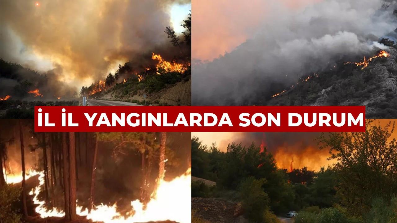 İl il yangınlarda son durum