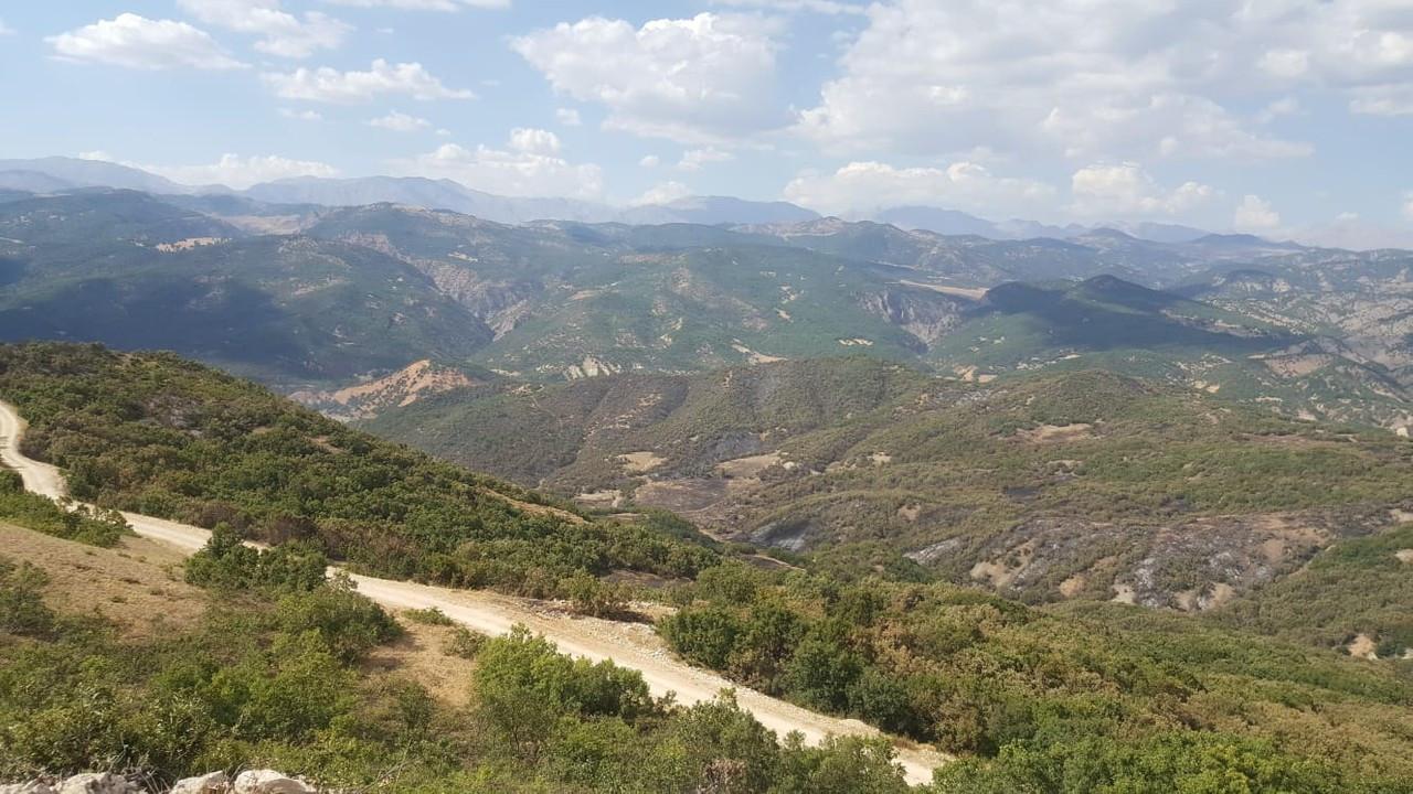 Tunceli'de ormanın 2 gün yandığı bölgede soğutma çalışması sona erdi