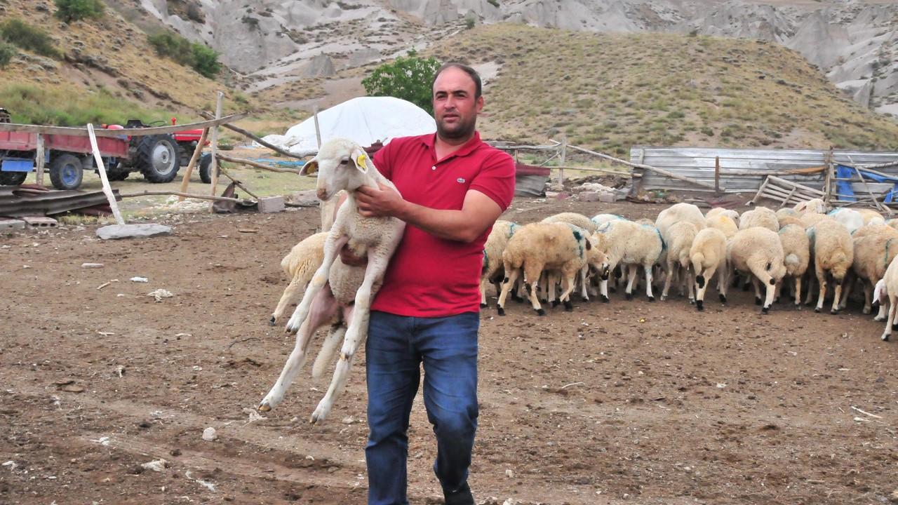 Hayvanları göçük altında kalan besiciye yardım