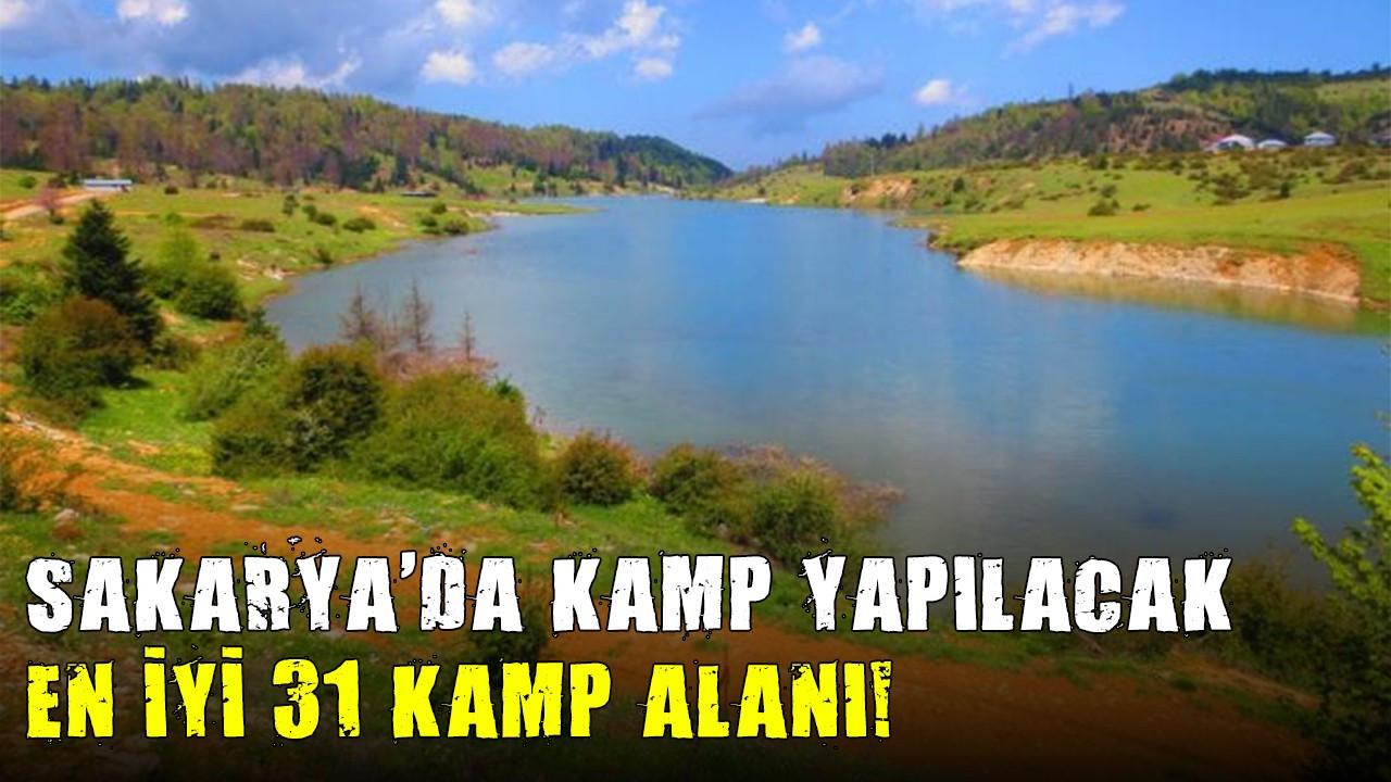 Sakarya'da kamp yapılacak en iyi 31 kamp alanı!