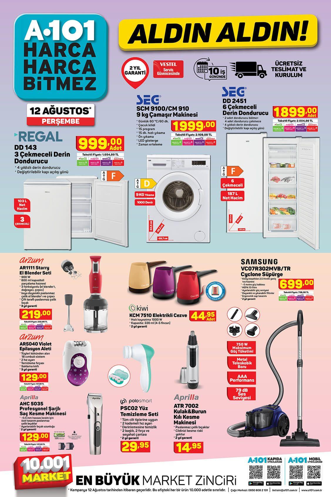 A101'de bu hafta neler var? 12 Ağustos aktüel ürünler kataloğu - Sayfa 2