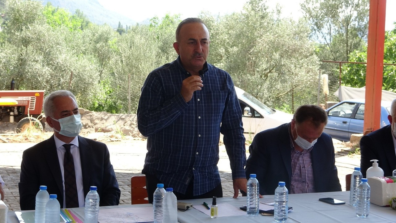 """Bakan Çavuşoğlu: """"Bu afetlerin üstesinden gelirken en büyük gücümüz milletimiz oldu"""""""