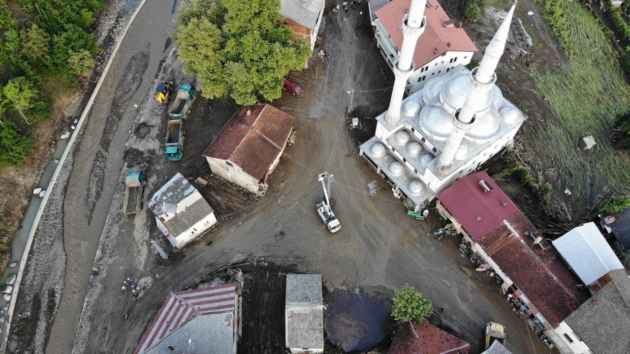 Zafer köyündeki çalışmalar havadan görüntülendi