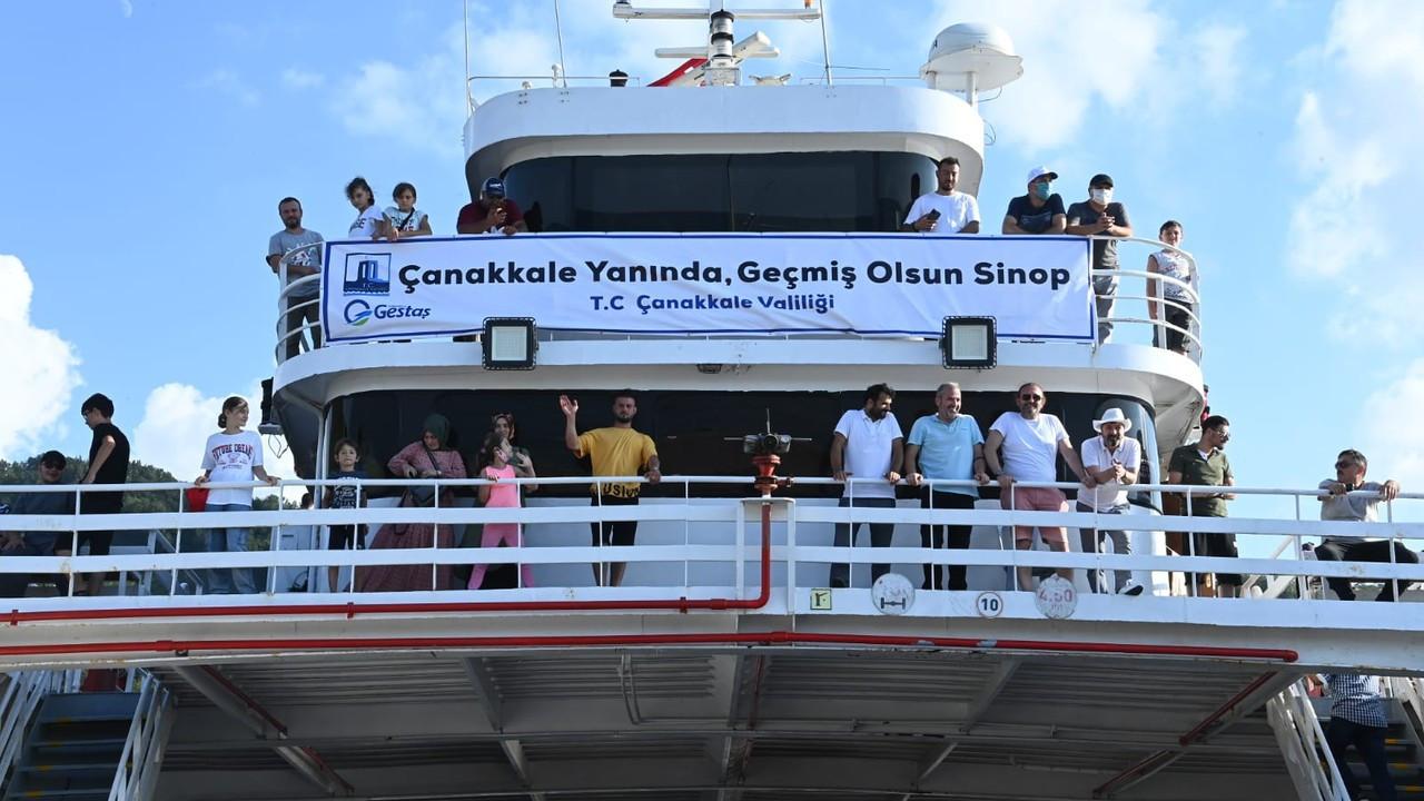 Sinop'tan 3 günde 578 kişiye feribotla tahliye