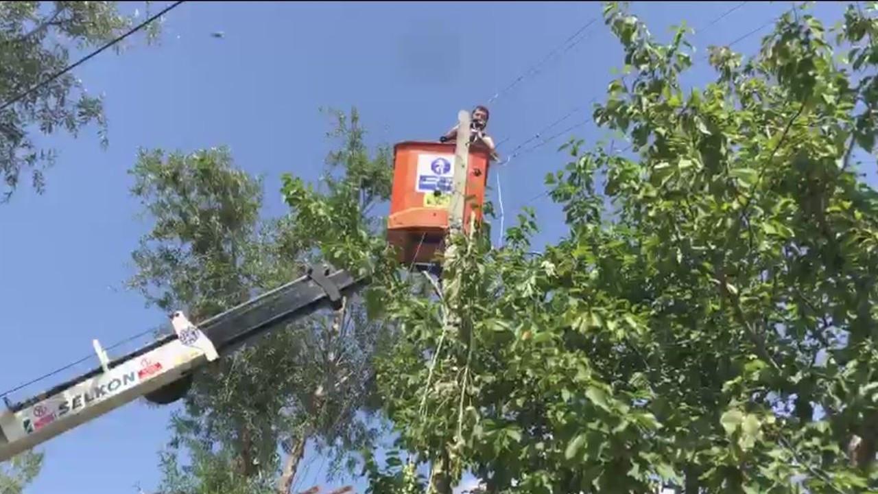 Artvin'in Şavşat ilçesinde onarım çalışmaları sürüyor