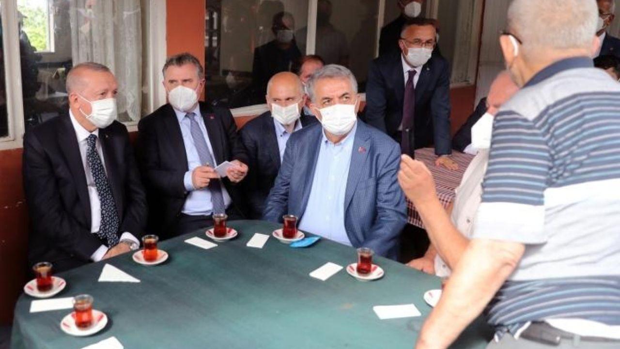 Cumhurbaşkanı Erdoğan, vatandaşın davetini geri çevirmedi