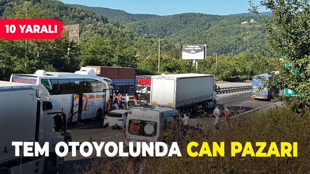 Sakarya'da 7 araç birbirine girdi: 10 yaralı