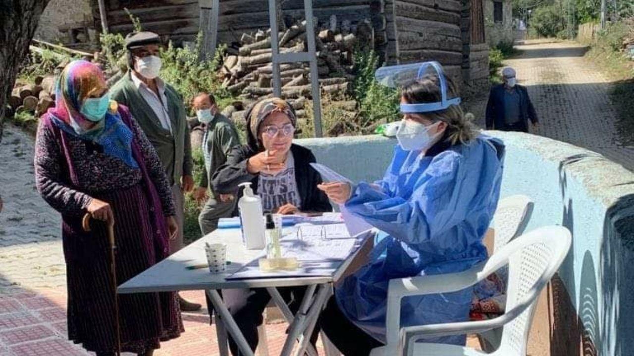 Sel mağdurlarına korona aşısı yapıldı