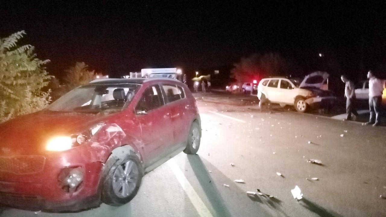 Erzurum'da iki otomobil koyun sürüsüne daldı: 40 koyun öldü
